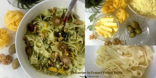 15 Minutes Fettucine in Fennel Frond Pesto