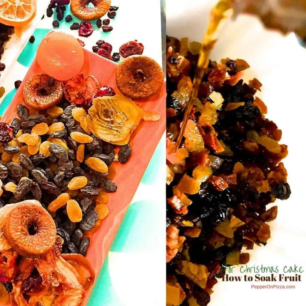 How to Soak Fruits for Christmas Fruit Cake