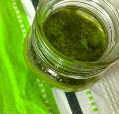 Easy homemade Basil Oil
