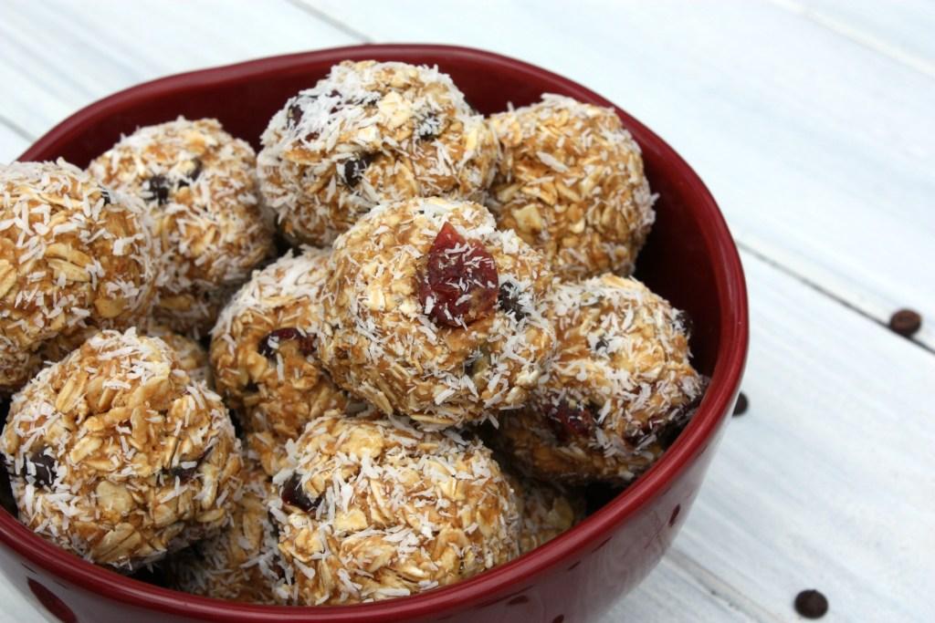 Coconut Cranberry Chocolate Chip Energy Bites