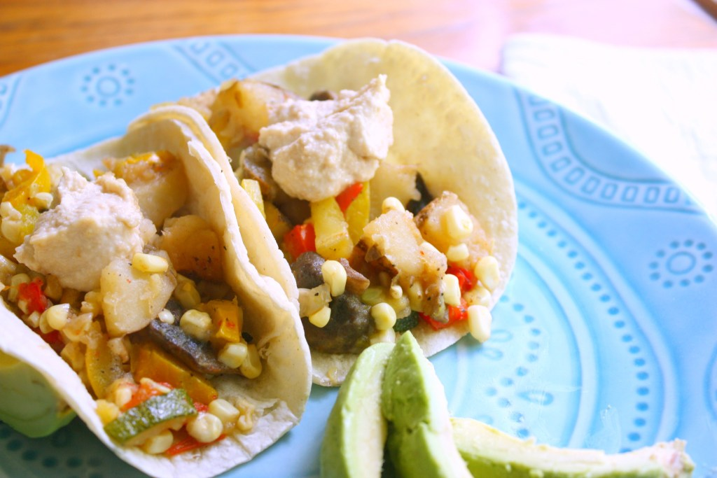 Veggie and Potato Breakfast Tacos
