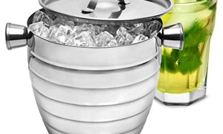 Manhattan Nights Stainless Steel Ribbed Ice Bucket 1.8ltr by bar@drinkstuff