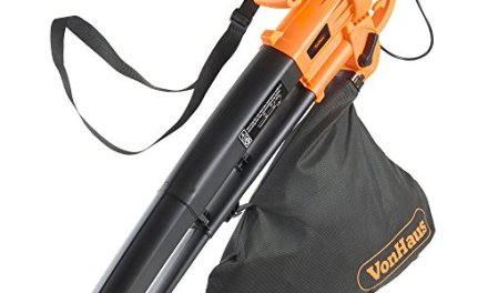 VonHaus 3 in 1 Leaf Blower, Garden Vacuum & Mulcher – 2600W – Large 35 Litre Collection Bag, 10:1 Shredding Ratio, Automatic Mulching Compacts Leaves in Bag with 10m Cable