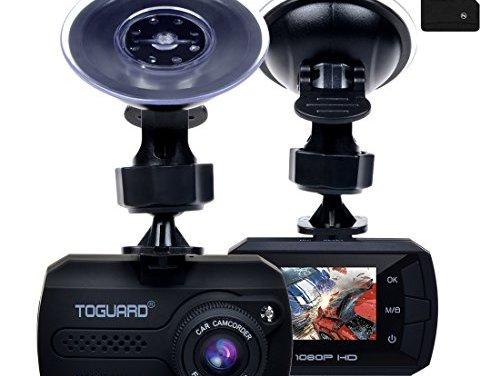 TOGUARD Mini Dash Cam (16GB Card Included) Full HD 1080P Car Blackbox Car Dash Cams DVR Dashboard Camera Built In G-Sensor Motion Detection Loop Recorder Night Vision