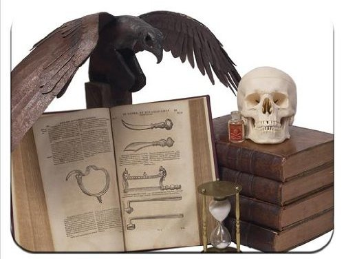 Halloween Props Spooky Books Skulls Black Crow Poison Premium Quality Thick Rubber Mouse Mat Pad Soft Comfort Feel Finish
