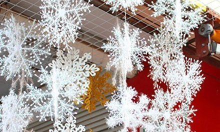 6 Piece White Snowflakes Christmas Decorations Supplies Hanging Ornaments