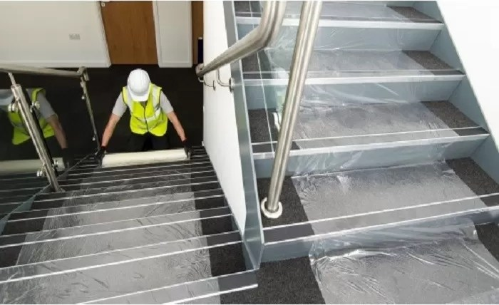 Stable Adhesive Carpet Protector Film Clear Color Pe Material For | Carpet Cover For Stairs | Flooring | Stylish | Cheap | Diamond Pattern | Patterned