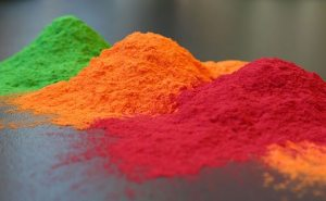 Photo of colored powder