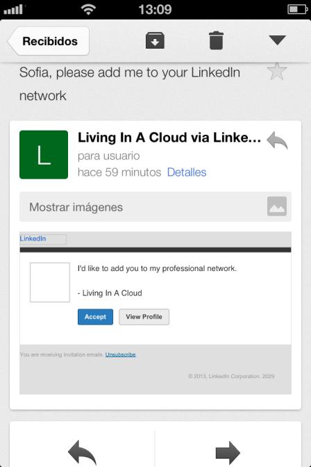 Errores en los perfiles de LinkedIn