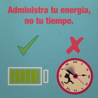 Adminstra tu energia