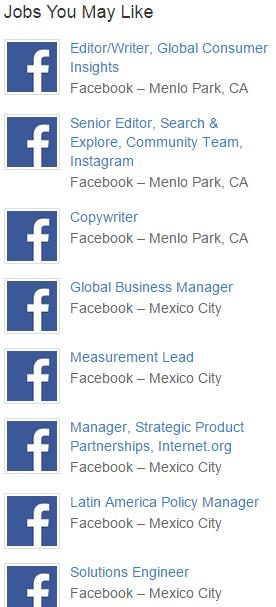 vacantes en facebook