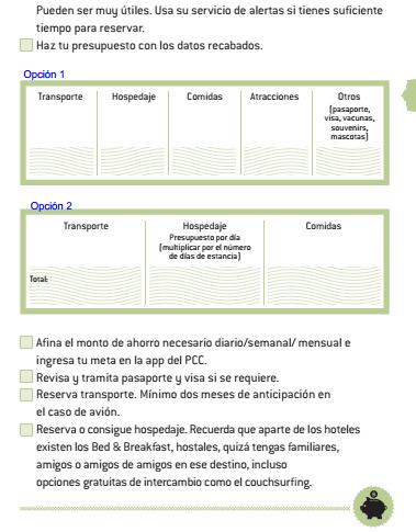 checklist viaje de tus sueños versión verde libro agenda pequeño cerdo capitalista 2016 -2