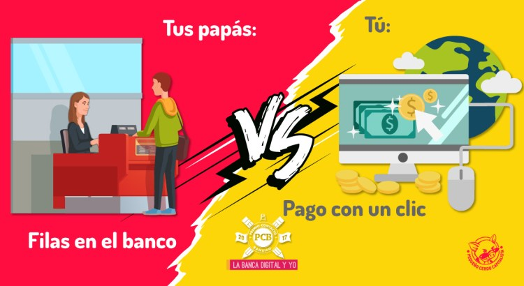Medios de pago que usaban tus papás vs los que tú ahora usas