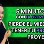 Cómo encontrar tu trabajo ideal con PROYECTOS PROPIOS | 5 minutos con Fa Orozco
