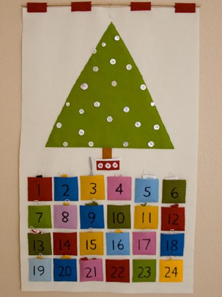 Calendario fieltro navidad