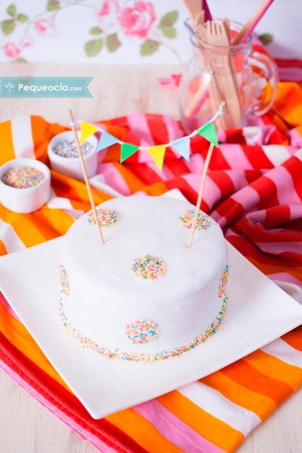 tartas de fondant facil de cumpleaños