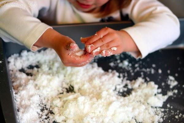 Resultado de imagen para nieve artificial harina de maiz