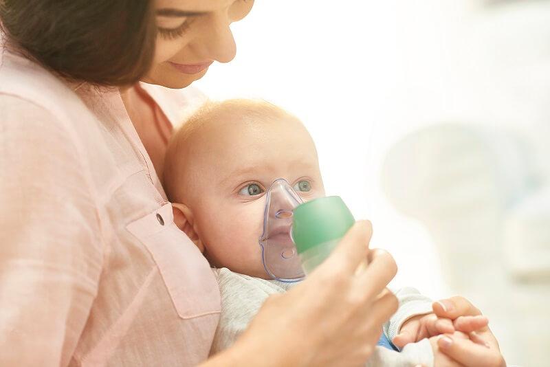 Nebulizador para bebés y niños para administrar medicación