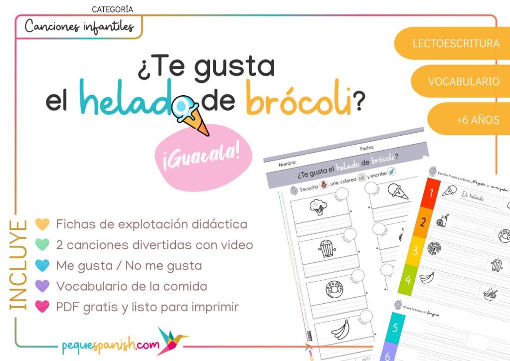 ¿Te gusta el helado de brócoli? Explotación didáctica para aprender español. Pequespanish