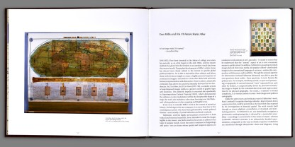 Book interior of US Future States Atlas by Dan Mills