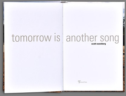 Tomorrow is Another Song by Scott Wannberg