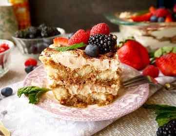 Healthier Coconut Cream Tiramisu | Perchance to Cook, www.perchancetocook.com