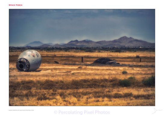 crashed space capsule