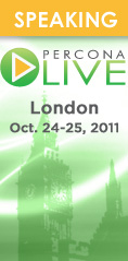 Percona Live MySQL Conference, London, Oct 24th and 25th, 2011