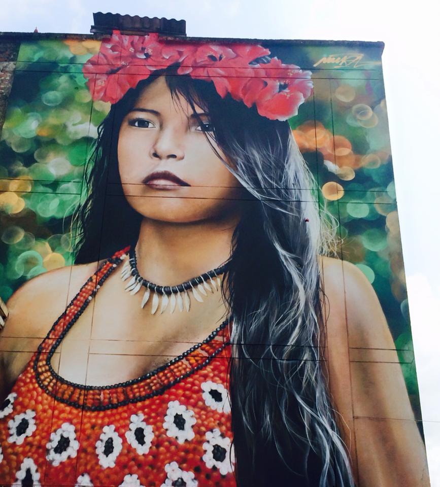 Embera-Woman-Mural-in-Pereira