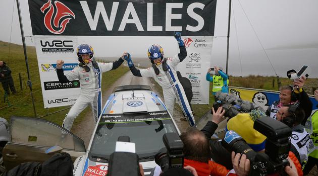 Triunfo de Ogier, Record para Volkswagen - WRC en Gales
