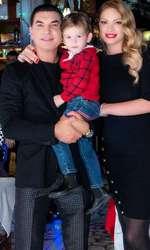 Valentina Pelinel, Cristi Borcea și fiul lor, Milan