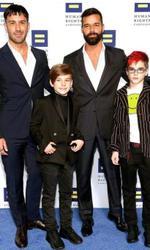 Ricky Martin și soțul său, alături de gemenii Matteo și Valentino