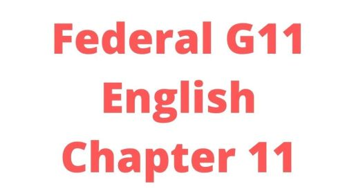 Federal G11 English Chapter 11 The Importance of Family