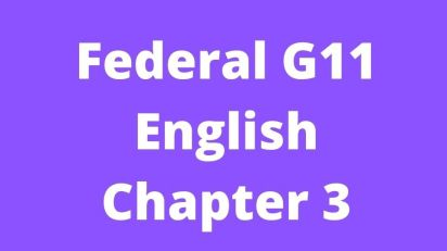 Federal G11 English Chapter 3 Good Timber