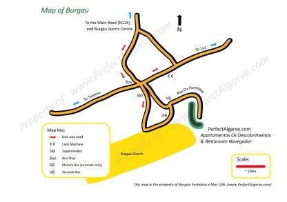 Map of Burgau