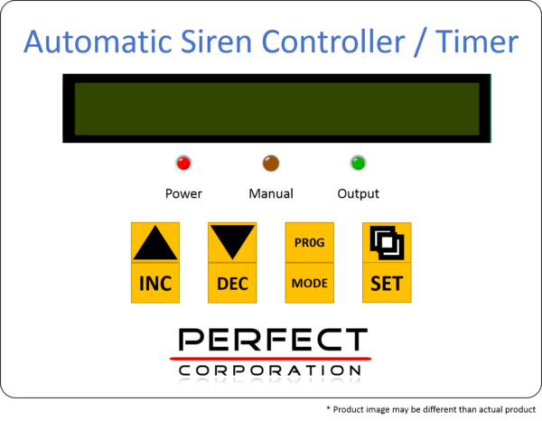 Automatic Factory Siren Timer Controller Panel