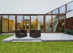 Villa patio with rattan chairs
