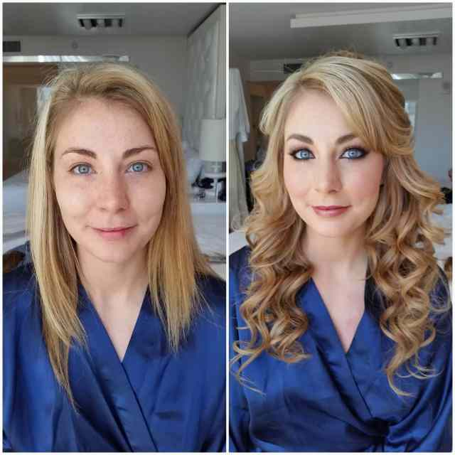 mobile hair and makeup stylists in las vegas - before