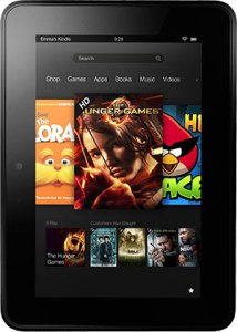 Front of 2012 Kindle Fire HD
