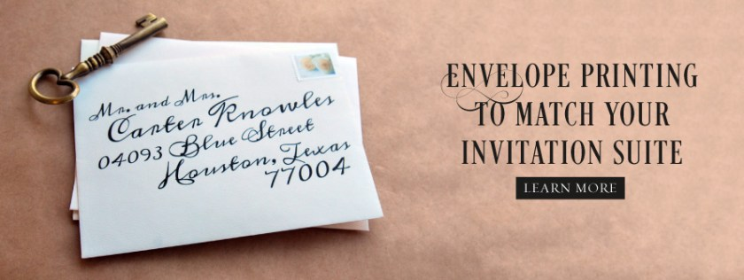 Envelope Printing Monogram Stationery
