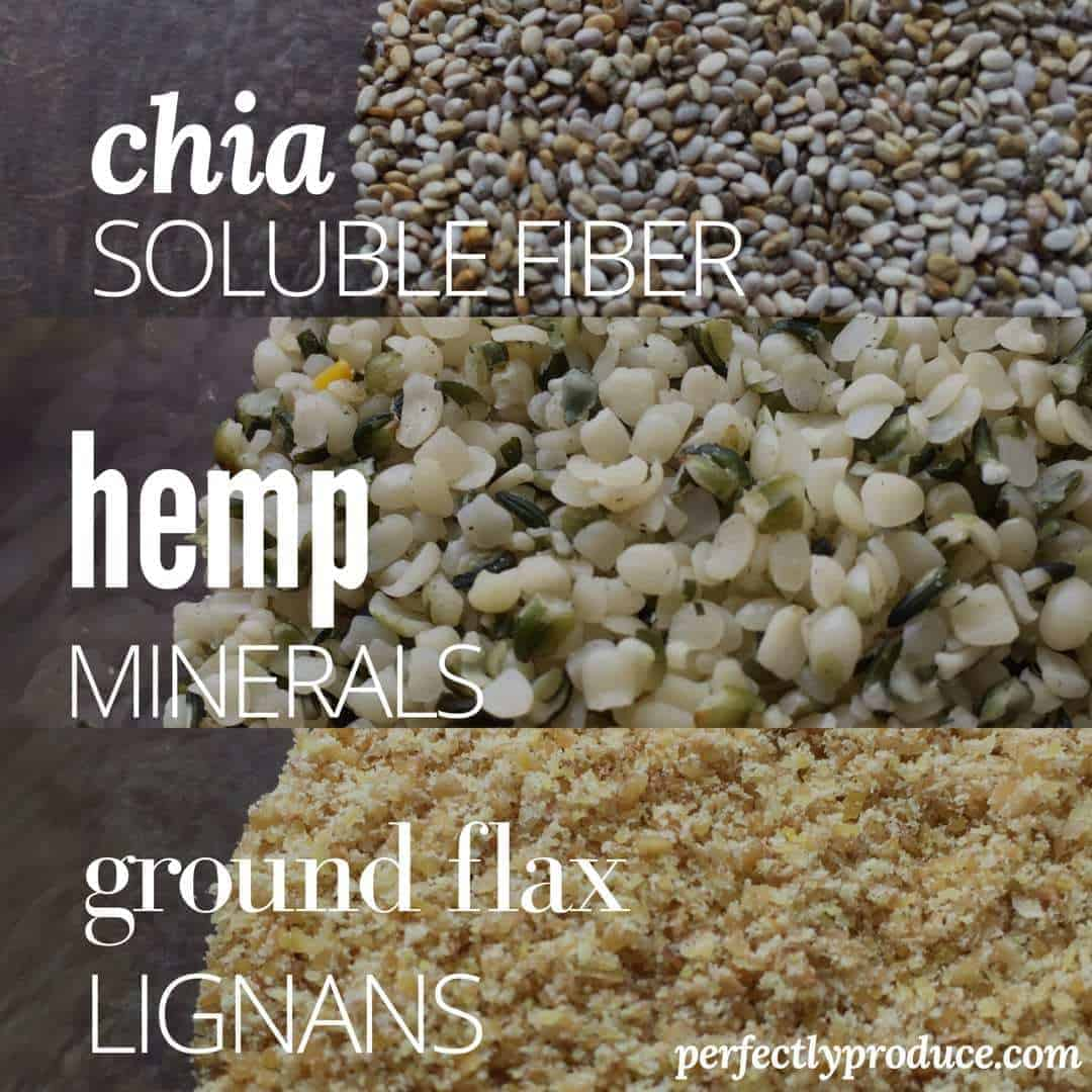 Differences Between Flax, Chia, and Hemp Seeds