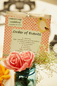 Wedding Order Of Events