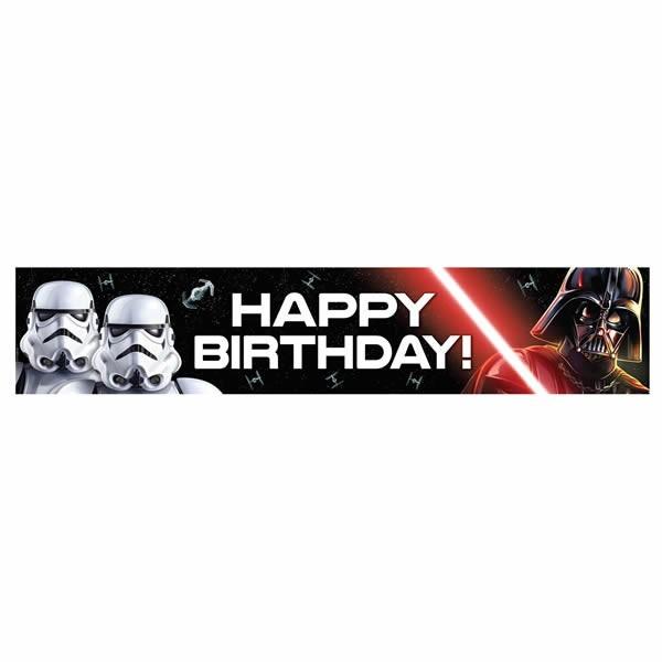 Star Wars Classic Happy Birthday Banner Party Supplies Darth Vader Storm Trooper 9313985811235 Ebay