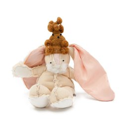 Perfect Reject #129 Rabbit with poodle hat Unique Gift - Front View