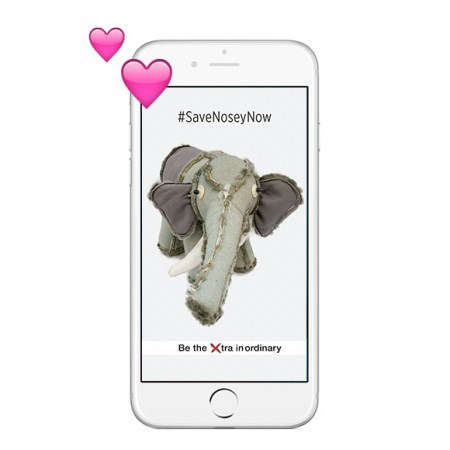 iPhone 6 showing wallpaper of Nosey the elephant Perfect Reject. iPhone 6 showing wallpaper of Nosey the elephant Perfect Reject. We make unusual stuffed animals