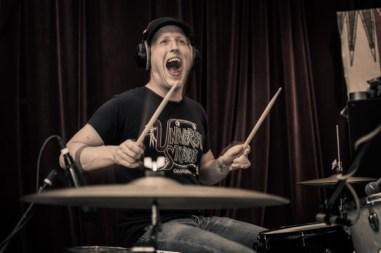 Drumming.