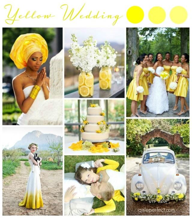 Yellow Wedding Inspiration Board