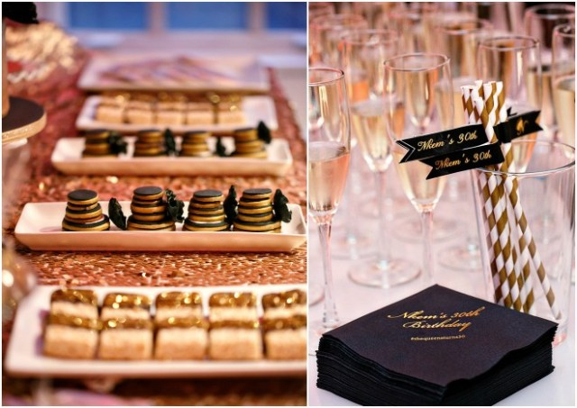 Black and Gold 30th Birthday Party by Amy Anaiz Photography
