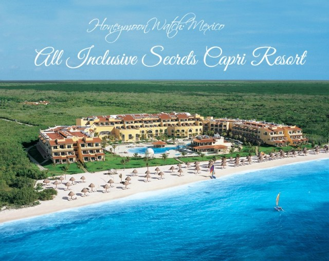 Honeymoon at Secrets Resort Riviera Cancun