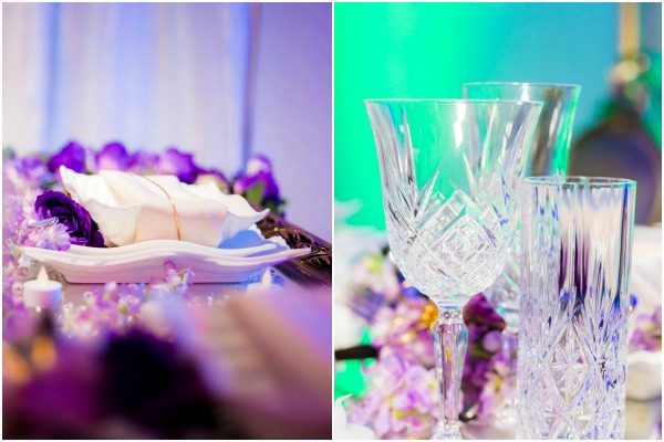 Purple Reception by Sara O